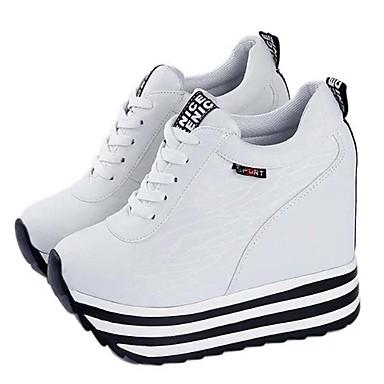 Dame-Kunstlær-Kilehæl-Komfort-Flate sko-Friluft Fritid Sport-