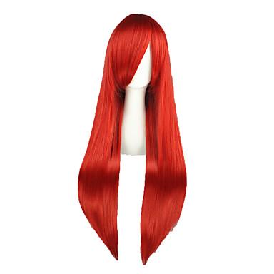 Pelucas de Cosplay Fairy Tail Elza Scarlet Animé Pelucas de Cosplay 80cm CM Fibra resistente al calor Hombre Mujer