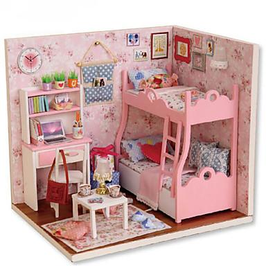CUTE ROOM Puppenhaus Tue so als ob du spielst Modellbausätze Spielzeuge Heimwerken Neuartige Quadratisch Haus Holz 1 Stücke Weihnachten