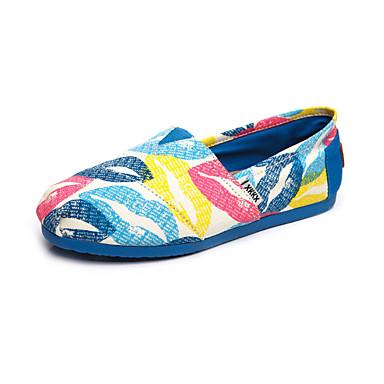 Sko-Lerret-Flat hæl-Rund tå-Flate sko-Fritid-Blå / Burgunder
