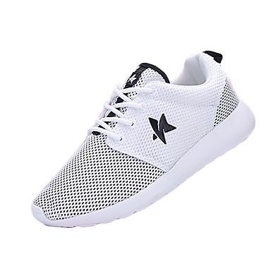 Mujer Zapatos Tul Primavera Otoño Confort Tacón Plano Para Deportivo Casual Blanco Negro Negro/blanco