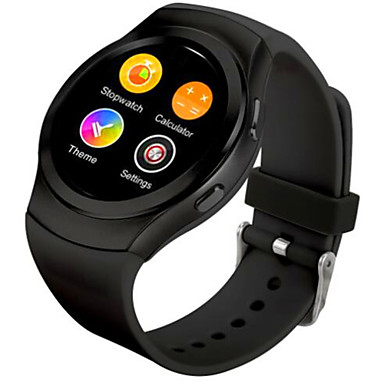 Bluetooth smartwatch mtk2502c ips skjerm simkort høre rate monitor klokke for eple iphone ios android