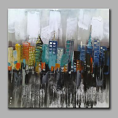 Håndmalte Abstrakt Kvadrat, Klassisk Moderne Lerret Hang malte oljemaleri Hjem Dekor Et Panel