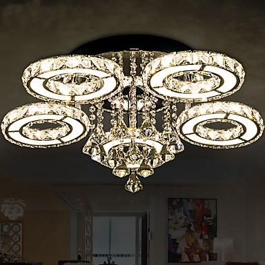 Takmonterad Fluorescerande Rektangulär Metall Kristall, LED 110-120V / 220-240V Gul / Vit LED-ljuskälla ingår / Integrerad LED