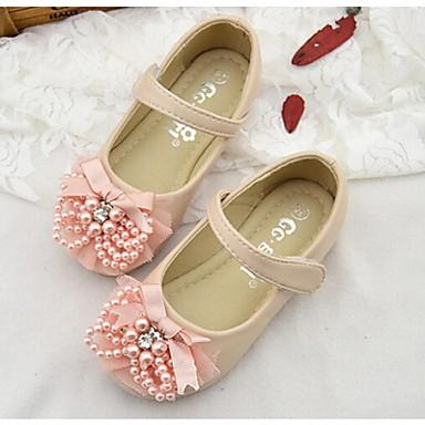 Fille Chaussures Faux Cuir Printemps Eté Automne Confort Ballerines pour De plein air Blanc Rose