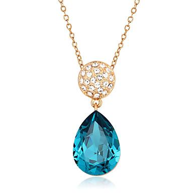 Femme Rond Mode Pendentif de collier Zircon cubique Zircon Plaqué or Pendentif de collier Mariage Soirée Quotidien Décontracté Bijoux de