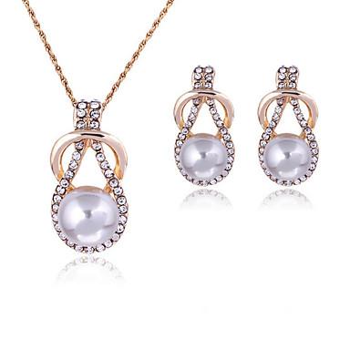 Damen Schmuck-Set Ohrringe Halsketten - Geschenkboxen & Taschen bezaubernd Einstellbar Weiß Schmuckset Halskette / Ohrringe Für Hochzeit