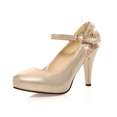 Femme Chaussures Daim Printemps Eté Automne Gladiateur A Bride Arrière Nouveauté Confort Chaussures à Talons Talon Aiguille pour Mariage