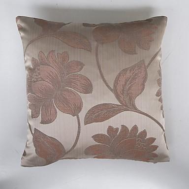 1 pcs Polyester Housse de coussin, Fleur Traditionnel