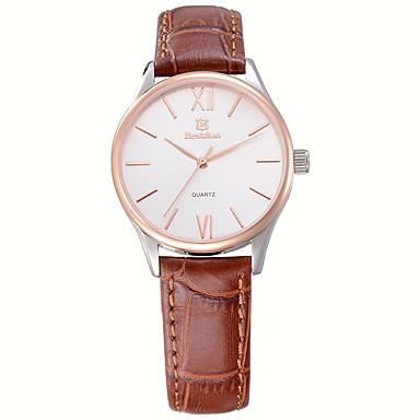 Mulheres Relógio de Moda Quartz / Quartzo Japonês Impermeável / Relógio Casual Couro Banda Preta / Marrom marca