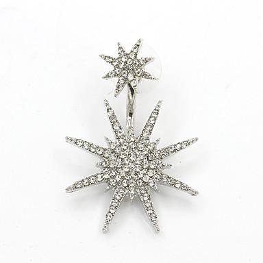 للمرأة أقراط قطرة حجر الراين مثير موضة شخصية حجر الراين Flower Shape مجوهرات من أجل يوميا فضفاض مواعدة
