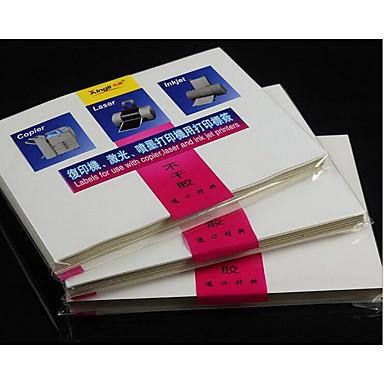 A4自己粘着紙の接着剤ラベル印刷ステッカーレーザーインクジェット卸売光沢のあるマット95pcs