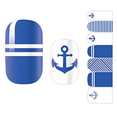 1 pcs 3D Negle Stickers Negle kunst Manicure Pedicure Mode Daglig / 3D Nail Stickers