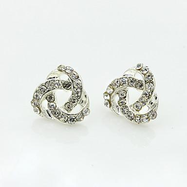 Női Strassz Strassz Beszúrós fülbevalók - Személyre szabott / Divat Ezüst Twist kör Fülbevaló Kompatibilitás Napi / Hétköznapi