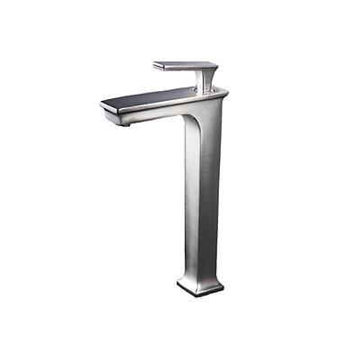 Moderne Bolleservant Termostatisk with  Keramisk Ventil Enkelt Håndtak Et Hull for  Nikkel Børstet , Bathroom sink tappekran