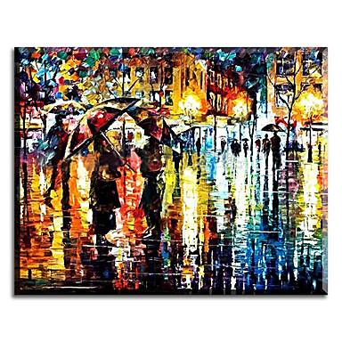Peint à la main Paysage Format Horizontal,Classique Pastoral Style européen Style Moderne Traditionnel Réalisme Méditerranéen Toile