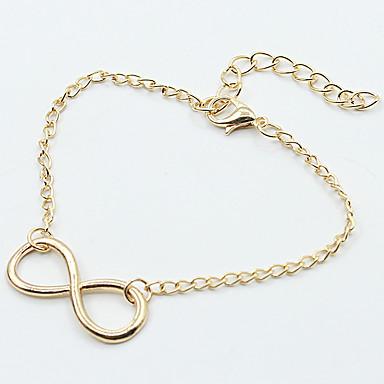 abordables Bracelet-Chaînes Bracelets Femme Mode Bracelet Bijoux Dorée Noir Argent pour Mariage Soirée Quotidien Décontracté