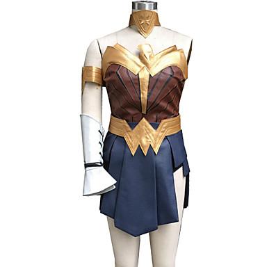 Costumes de Cosplay Superhéros / Soldat/Guerrier Cosplay de Film Bleu Encre MosaïqueGilet / Jupe / Brassard / Ceinture / Short / Bandeau