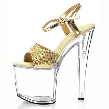 Mujer-Tacón Stiletto Plataforma-Plataforma Zapatos del club Light Up Zapatos-Tacones-Boda Vestido Fiesta y Noche-Materiales Personalizados