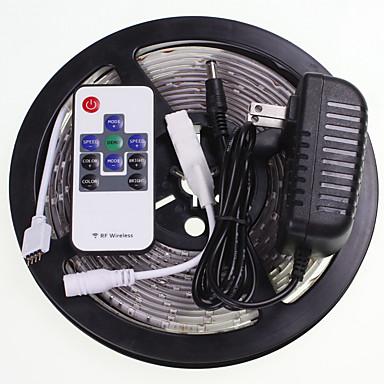 SENCART 5 m Sets de Luces 300 LED RGB Control remoto / Cortable / Impermeable 100-240V / 5630 SMD / Conectable / Adecuadas para Vehículos