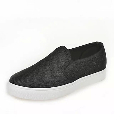 Fladsko-Kunstlæder-Komfort Modestøvler-Dame-Sort Grå-Udendørs Fritid Sport-Flad hæl