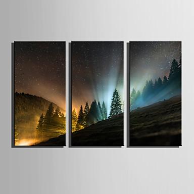 Trykk Landskap Europeisk Stil Tre Paneler