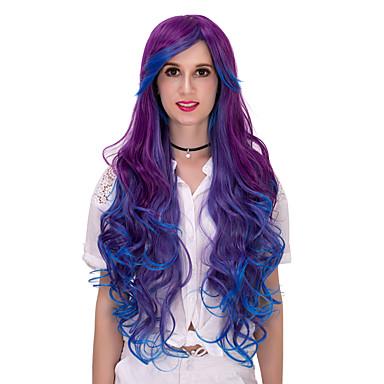 lilla blå gradient langt hår wig.wig lolita, halloween parykk, farge parykk, mote parykk, naturlig parykk, cosplay parykk.