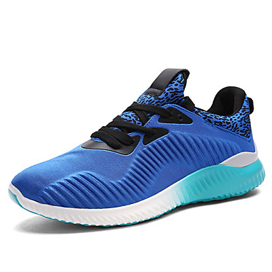 Sneakers-PU-Komfort-Herre-Sort Blå Grå-Udendørs Fritid Sport-Flad hæl