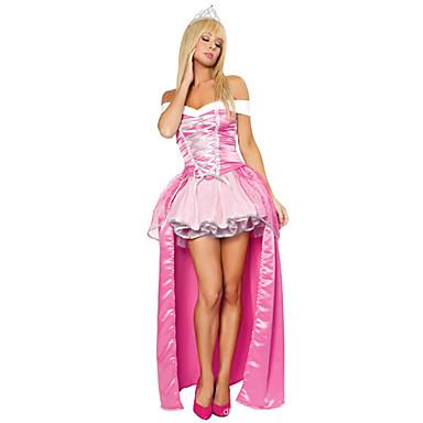 Prinzessin / Märchen / Aurora Cosplay Kostüme Damen Weihnachten / Halloween / Karneval Fest / Feiertage Halloween Kostüme Rosa Vintage