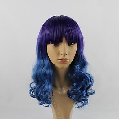 Synthetische Haare Perücken Große Wellen Gefärbte Haarspitzen (Ombré Hair) Karnevalsperücke Halloween Perücke Capless Perücken Lang Lila