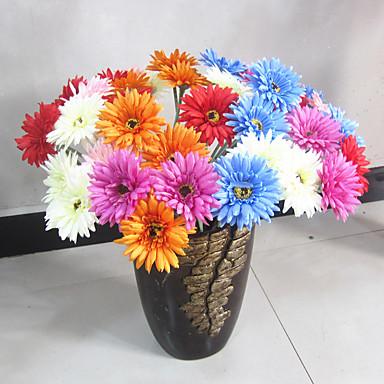 1 1 Afdeling Polyester / Plastik Tusindfryd Bordblomst Kunstige blomster 23.62inch/60cm