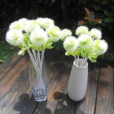 1 1 Afdeling Polyester / Plastik Others Bordblomst Kunstige blomster 12.9*2.1inch/33*5.5cm