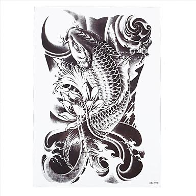 1pc lifelike fish temporary tattoo for women men body art