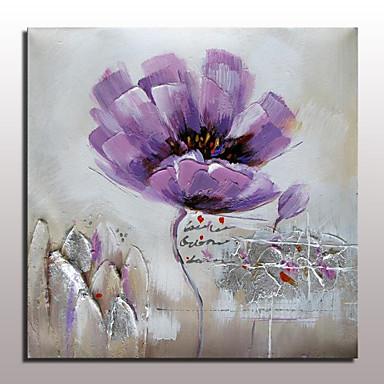 Pintura al óleo pintada a colgar Pintada a mano - Floral / Botánico Modern Lona