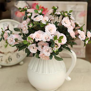 Flores Artificiales 1 Rama Estilo moderno Rosas Flor de Mesa