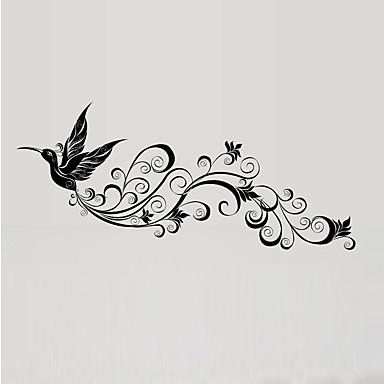 Dyr Vægklistermærker Fly vægklistermærker Dekorative Mur Klistermærker Materiale Vaskbar Kan fjernes Kan genpositioneres Hjem Dekoration