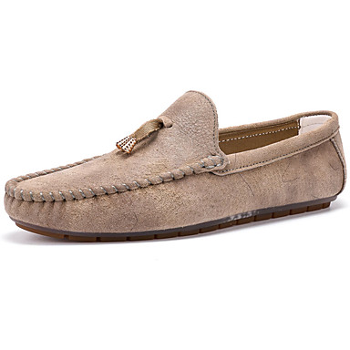Loafers og Slip-ons-Læder-Rund tå / Fladsko-Herre-Brun / Gul / Orange-Hverdag-Flad hæl