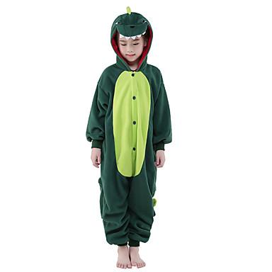 enfant pyjamas kigurumi dinosaure combinaison de pyjamas polaire vert cosplay pour gar ons et. Black Bedroom Furniture Sets. Home Design Ideas