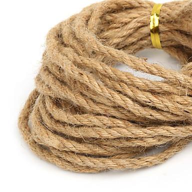 beadia 4mm naturlig hamp jute snor for DIY smykker håndværk making (5mts)