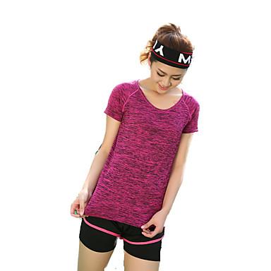 Dame Løbe-T-shirt Kortærmet Hurtigtørrende Åndbart Komprimering Svedreducerende T-Shirt Toppe for Yoga Træning & Fitness Løb Modal