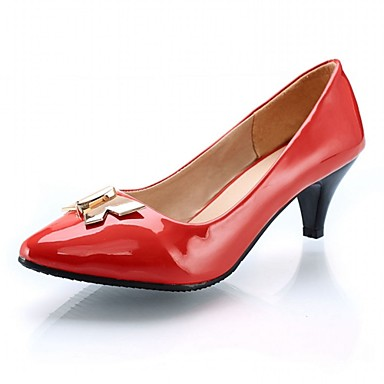 Naisten Kengät Synteettinen Kiiltonahka Tekonahka Kevät Kesä Korkokengät Kävely Paksu korko Pistekuvio varten Häät Kausaliteetti Juhlat