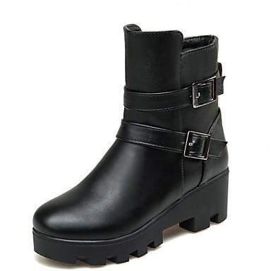 Støvler-Syntetisk laklæder Kunstlæder-Cowboystøvler Gummistøvler Ridestøvler Modestøvler-Dame-Sort Brun Mandel-Bryllup Kontor Formelt