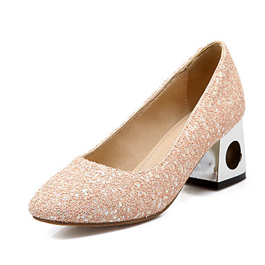 Dame-Glitter-Tykk hælHøye hæler-Fritid-Rosa Lilla
