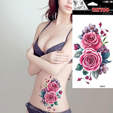 Tatoeagestickers Bloemen Series Non Toxic Waterproof Dames Volwassene Tijdelijke tatoeage Tijdelijke tatoeages