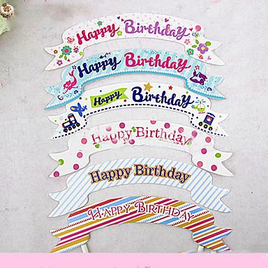 Aniversário Jogos de Mesa para Festas-Acessório para Bolo Marcador Cartão de Papel Duro Tema rústico