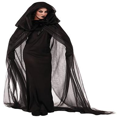 Hexe Cosplay Kostüme Party Kostüme Damen Halloween Fest / Feiertage Halloween Kostüme Schwarz Solide Spitze