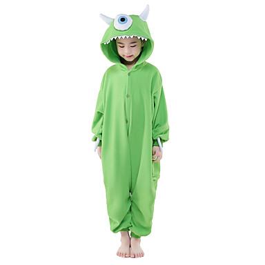 Kid's Kigurumi Pajamas Monster One-Eyed Monster Animal Onesie Pajamas Polar Fleece Cosplay For Boys and Girls Animal Sleepwear Cartoon Festival / Holiday Costumes
