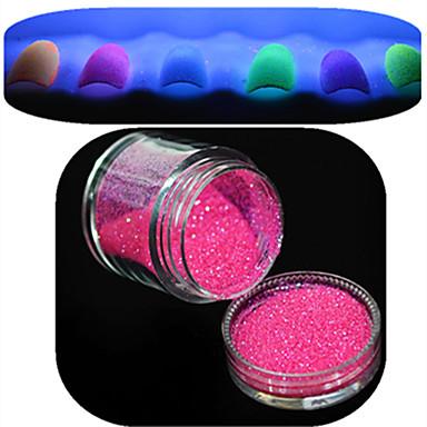 1 pcs Kynsien korut / Glitter & Poudre / Muut koristeet kiiltää / Klassiek / Bruiloft Nail Art Design Dagelijks / Glow-in-the-dark