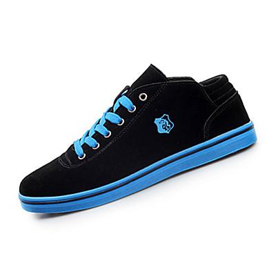 Sneakers-Ruskind-Komfort-Herre-Blå Grøn Rød-Fritid Sport-Flad hæl