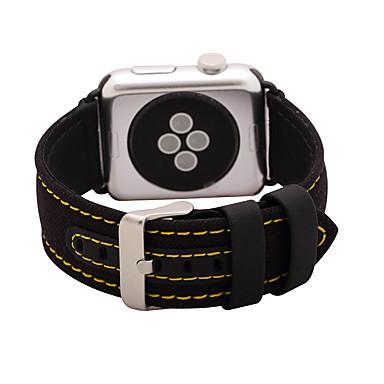 Urrem for Apple Watch Series 3 / 2 / 1 Apple Klassisk spænde Ægte læder Håndledsrem